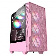 [마이크로닉스] Master M60 메쉬 (핑크) 미들타워 컴퓨터케이스