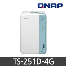 [QNAP] 큐냅 TS-251D-4G 2베이 NAS (하드미포함)